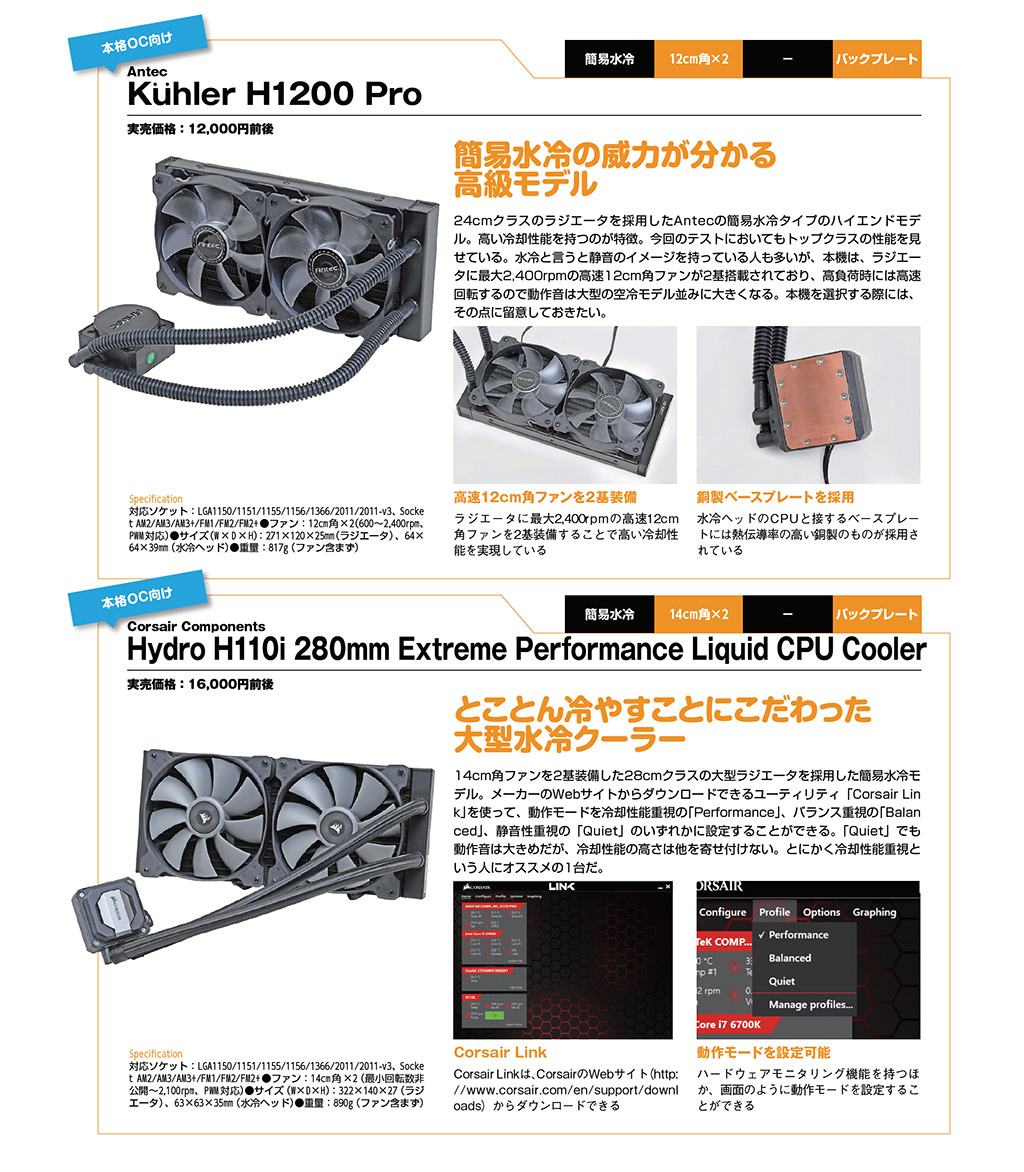 Antec Kuhler H1200 Pro / Corsair Components Hydro H110i 280mm Extreme Performance Liquid CPU Cooler