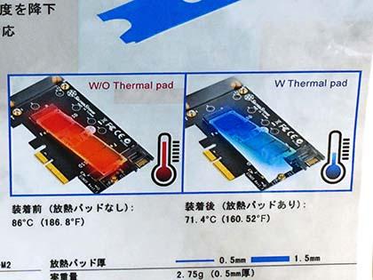 M.2 SSDの熱をマザーに逃がす冷...