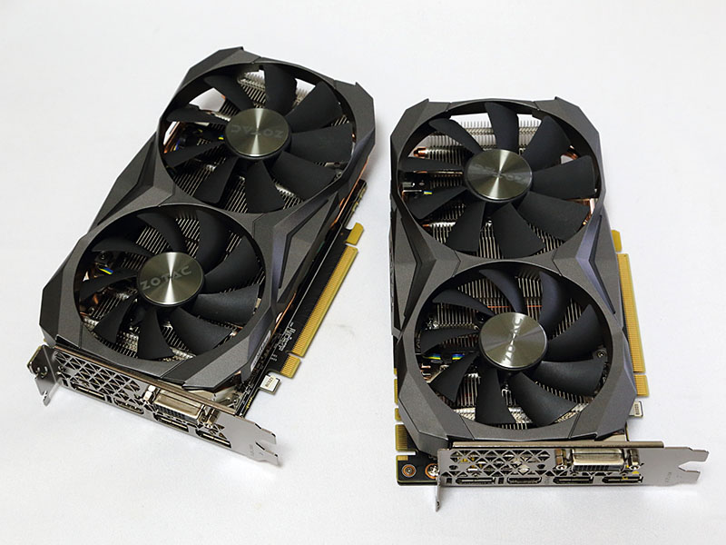 ZOTAC Geforce GTX 1080 Mini 8GB 2枚でSLIを構築する。
