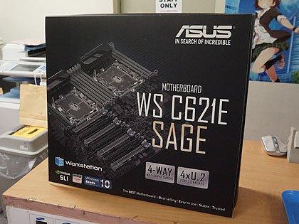 OC対応のデュアルXeonマザー「WS C621E SAGE」が発売、実売10万