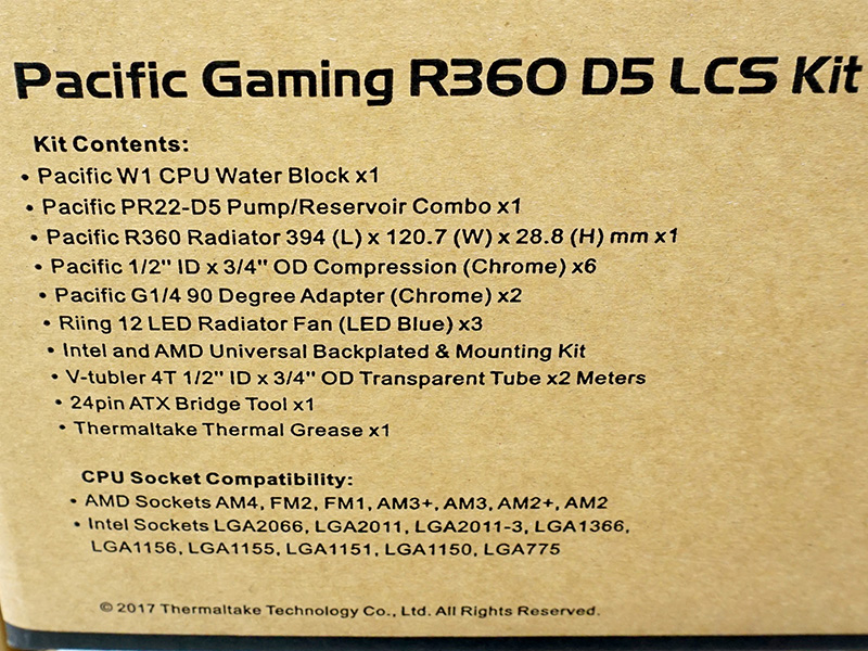 Pacific Gaming R360 D5 Water Cooling Kit