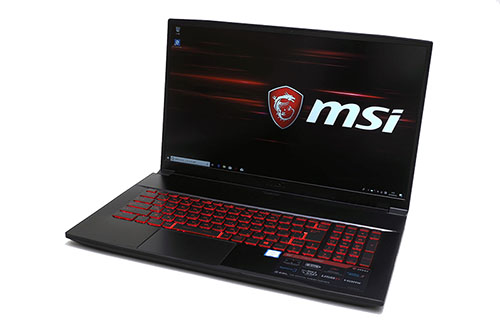 15万円の高コスパなゲーミングノートPC「MSI GF75 Thin」を試す、6コアCPUとGeForceを搭載
