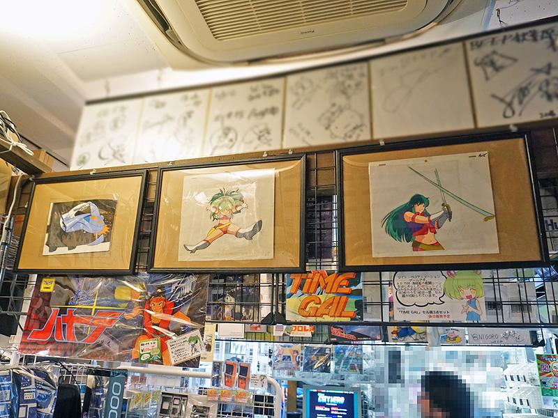 【話題】秋葉原でもレアな一品! タイトーのLDゲーム「タイムギャル」のアニメセル画が店頭展示中