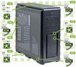 d937aaa98b 掲載記事:Phanteksの「マニア向け」PCケースにイルミネーションモデルが追加 10色に発光、長さ2mの増設用LEDキットも発売  (2014/8/9)