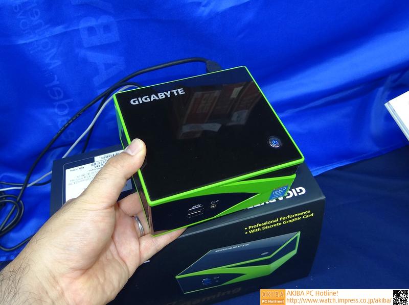 超小型筐体にGeForce GTX 760を搭載したPCキット「BRIX Gaming」が発売 筐体は約12cm角でNVIDIAカラー、CPUはCore i5